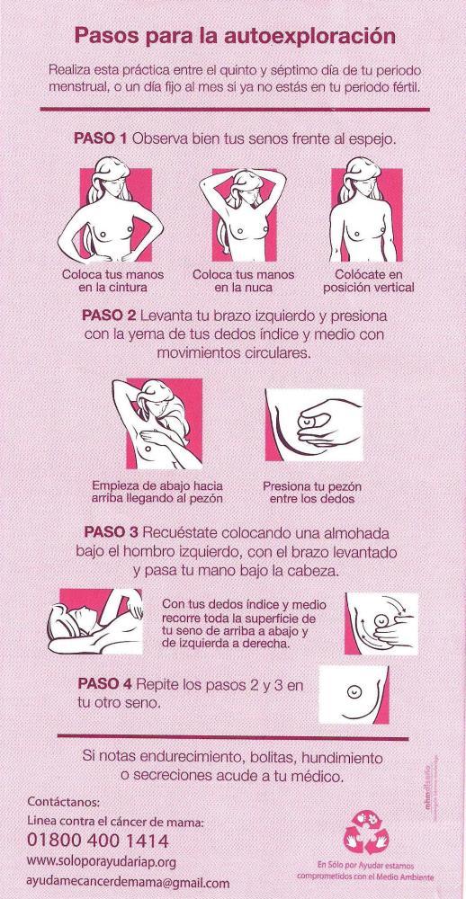 Autoexploración de mamas (2/2)