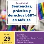 """[Video] (29/jun/2020 20:00 hrs) Foro Virtual """"Sentencias, prácticas y derechos LGBT+ en México"""" vía Facebook """"Viernes de Jurisprudencia"""""""