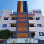 La Fundación Trans-Difusion y Sofía Guandulain visten de colores edificios públicos de #Oaxaca en junio #MesdelOrgullo