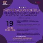 """[Video] (19/jun/2020 17:00 hrs) Foro """"Participación política de las personas #trans en el Estado de Campeche"""" organizado por el @IEECampeche con  @FatimaMeunierR  @adriafavela y @Rivka_Azatl"""