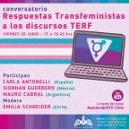 "[Video] (26/jun/2020, 14:00 hrs) Conversatorio ""Respuestas Transfeministas a los discursos TERF"" a través del canal de YouTube de @OTDChile con @CarlaAntonelli #España @SiobhanFGM #México @mauroicabral #Argentina"