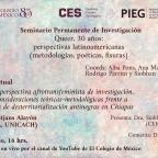 [Video] (19/ago/2020 18:00 hrs) Seminario Permanente de Investigación Queer, 30 años: perspectivas latinoamericanas (metodologías, poética, fisuras) por @elcolmex Centro de Estudios Sociológicos y Programa Universitario de Estudios de Género