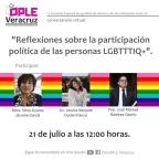 """[Video] (21/jul/2020) """"Reflexiones sobre la participación política de las personas LGBTTTIQ+"""" organizado por @ople_Ver con @JessicaMarjane @SilviaSusanaMx y José Manuel Rmz Osorio #México #Veracruz"""